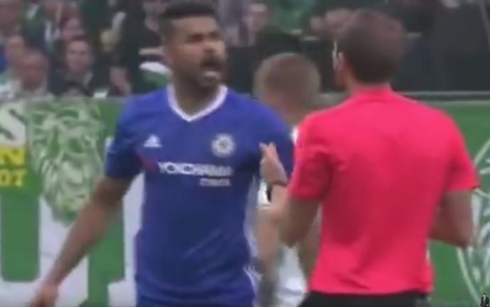 BLOG: Amistoso? Em estreia na temporada, Diego Costa se irrita e discute com árbitro