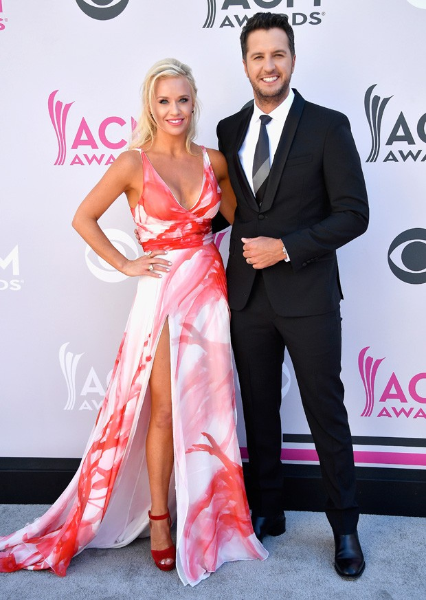 Caroline Boyer e Luke Bryan (Foto: Getty Images)
