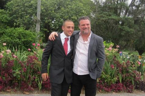 Adriano Garib e o filho, Gabriel Simon Garib (Foto: Arquivo pessoal)