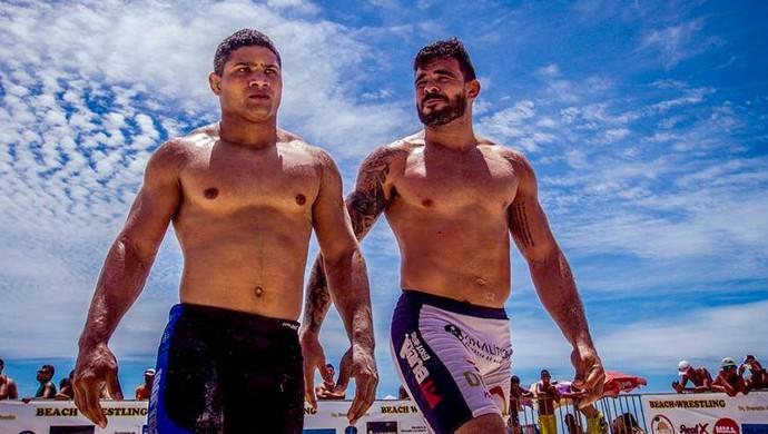 Thiago Jambo beach wrestling (Foto: Rita Moura)