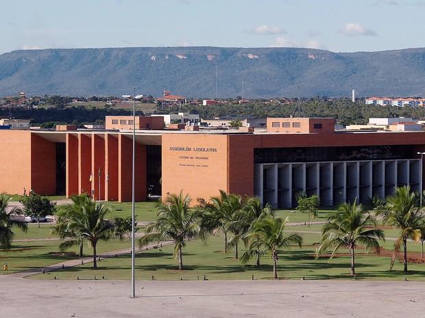 Fachada da Assembleia Legislativa do Tocantins (Foto: Reprodução/ TV Assembleia)