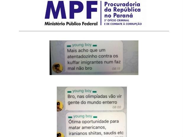 Trecho da denuncia apresentada pelo MPF traz reprodução de conversas de suspeitos (Foto: Reprodução/ MPF)