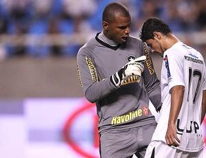 Jefferson defende penalti no jogo do Botafogo contra o Treze-PB (Foto: Fernando Soutello / Agif / Ag. Estado)