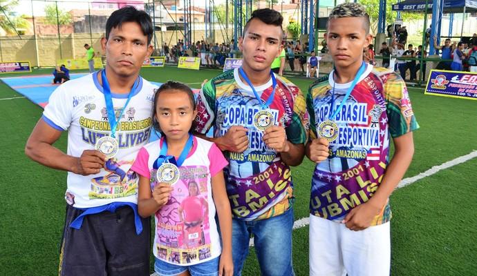 Família de atletas foi campeã em diferentes categorias da Copa (Foto: Emanuel Mendes/Divulgação)