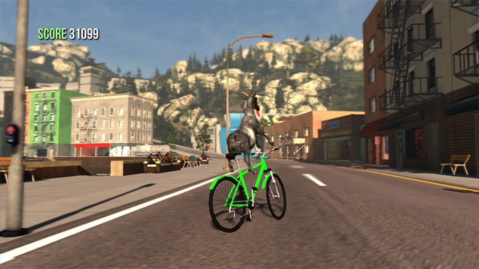 Goat Simulator traz uma pequena cidade para você causar caos no papel de um bode travesso (Foto: Divulgação)