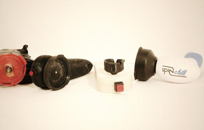 Evolução dos protótipos do Spin Chill até a versão original (Foto: Divulgação) (Foto: Evolução dos protótipos do Spin Chill até a versão original (Foto: Divulgação))