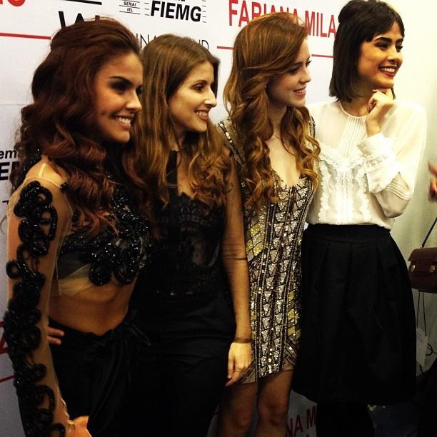 Paloma Bernardi, Fabiana Milazzo, Sophia Abrahão e Maria Casadevall em evento em Minas Gerais (Foto: Instagram/ Reprodução)
