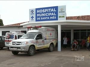 Vítimas foram levadaspara o hospital para reaizar exames de perícia (Foto: Reprodução / TV Mirante)