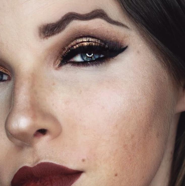 sobrancelha ondulada (Foto: Reprodução / Instagram)