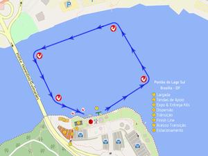 Percurso de natação será de uma volta com 1.9 Km (Foto: Divulgação)