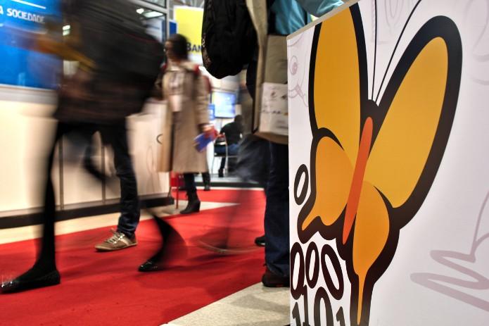 A borboleta símbolo da Associação Software Livre foi escolhida em um concurso de design com software livre (Foto: Divulgação/FISL)