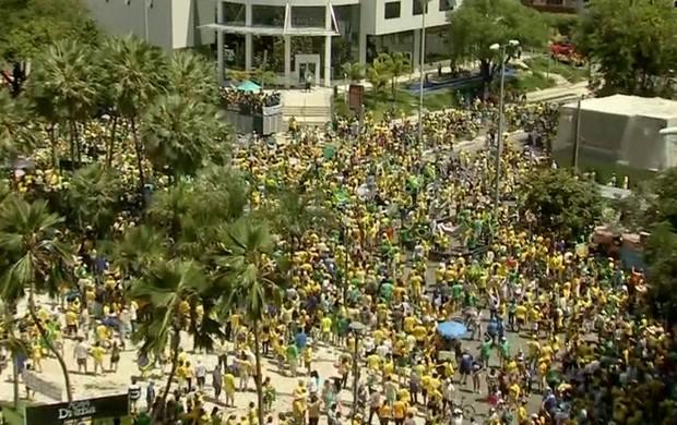 manifestantes no Ceará (GloboNews)