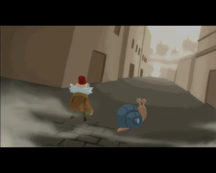 Ao longo das partidas do game Old e The Snail passam por várias aventuras e descobrem mais sobre o evento que mudou o seu mundo (Foto: Reprodução/Daniel Ribeiro)