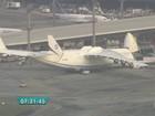 Maior avião do mundo tem decolagem adiada em Cumbica