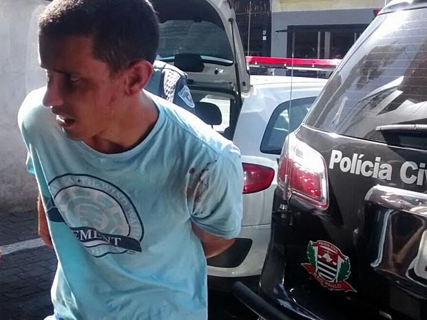 Jhonatan Lopes de Santana, suspeito de decapitações (Foto: Jenifer Carpani/G1)