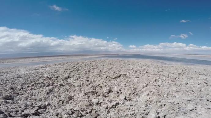 Deserto do Atacama, no Chile (Foto: Divulgação / TV Gazeta ES)