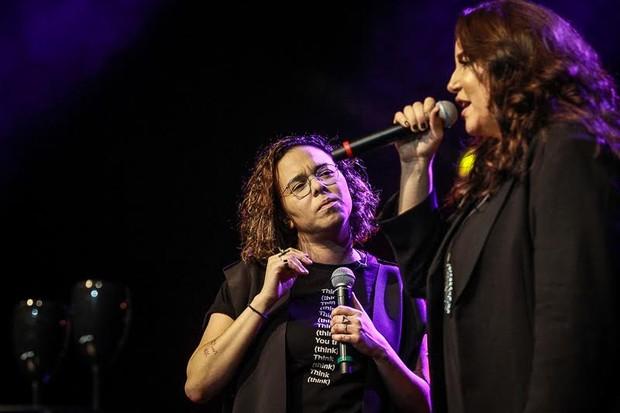 Maria Gadú e Ana Carolina (Foto: Raphael Castello/AgNews)