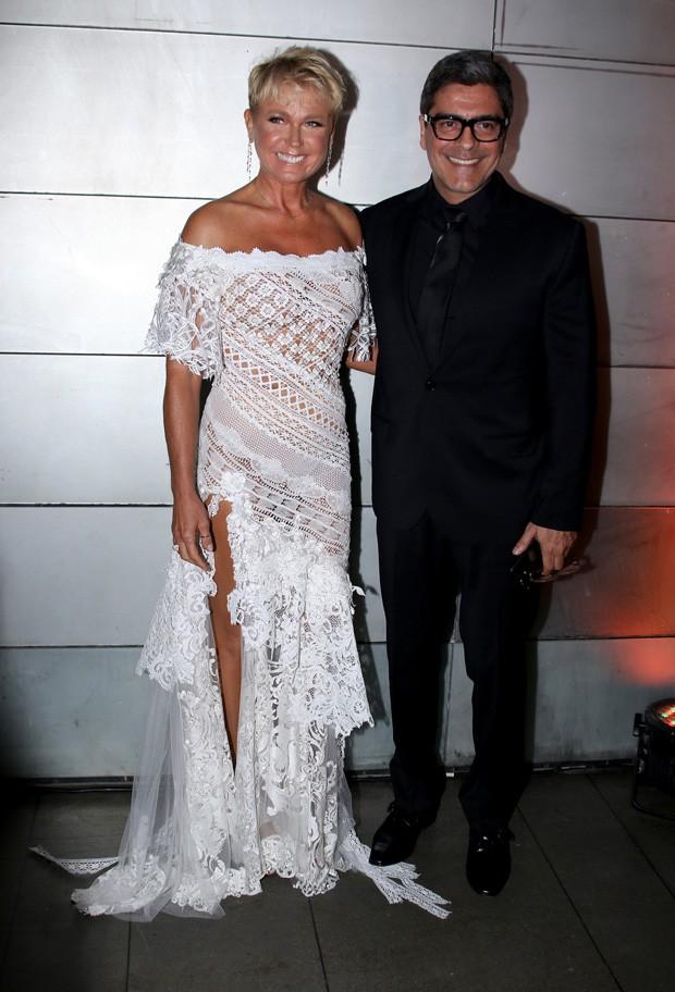 Xuxa e Junno Andrade (Foto: Thiago Duran/AgNews)