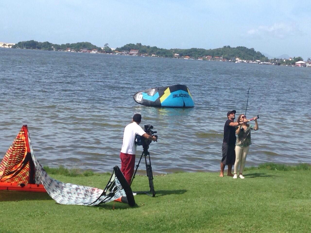 Programa mostra kitesurf (Foto: RBS TV/Divulgação)