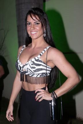 Graciele Lacerda em show em Goiânia, Goiás (Foto: Rafael Cusato/ Brazil News)
