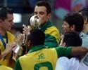 Rivais na Liga Futsal, amigos Vinicius e Falcão travam aposta solidária