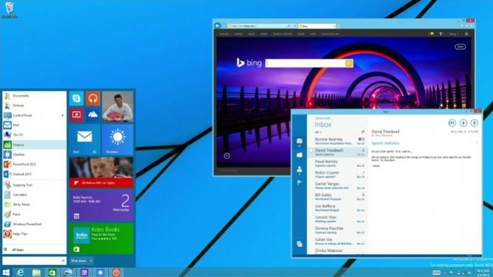Windows 9 deve priorizar a interface desktop e trazer de volta o menu Iniciar e apps em janelas (Foto: Reprodução/Microsoft)