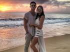 Thaila Ayala ganha declaração do namorado francês em foto na web