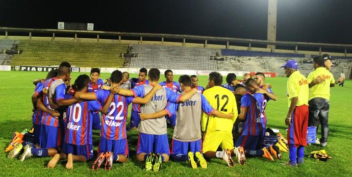 Jogadores do Piauí, Piauí x Parnahyba  (Foto: Joana D'arc Cardoso)