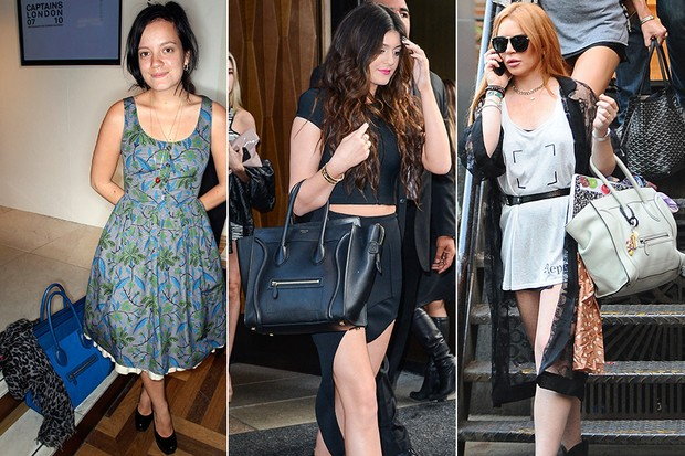 MODA - Bolsa Céline - Lily Allen, Kylie Jenner e Lindsay Lohan (Foto: Getty Images)