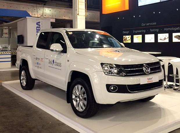 Empresa cria Volkswagen Amarok 100% elétrica (Foto: Autoesporte)