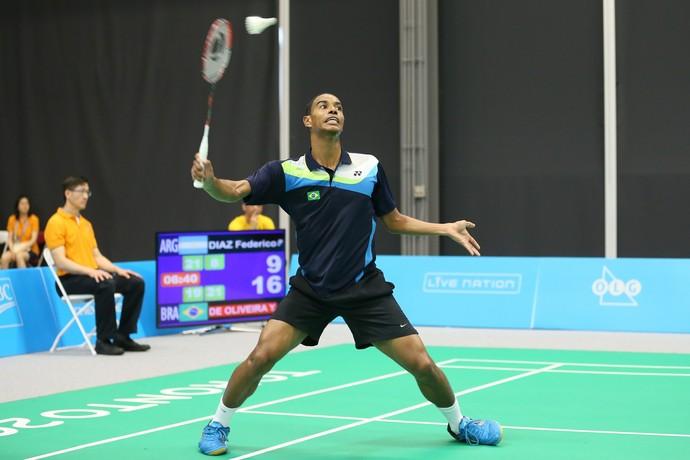 Ygor Coelho é um dos destaques do Brasil no badminton (Foto: Saulo Cruz/Exemplus/COB)