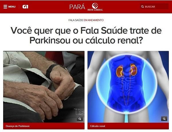 Enquete Fala Saúde  (Foto: Reprodução/G1Pará)