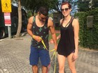 Sophião Abrahão e Sergio Malheiros passeiam com cachorros