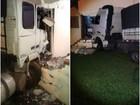 Caminhão desgovernado desce rua e só para ao atingir casa em Lajeado