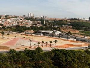 Praça de eventos 'Lecy de Campos', em Votorantim (Foto: Divulgação/Prefeitura de Votorantim)