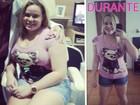 Paulinha mostra o antes e o durante da dieta: 'Ser magra é muito melhor'