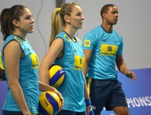 Treino seleção brasileira vôlei Campinas (Foto: Murilo Borges)