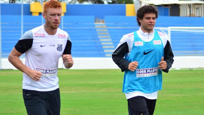Victor Ferraz Souza treino Santos em São José dos Campos (Foto: Danilo Sardinha/GloboEsporte.com)