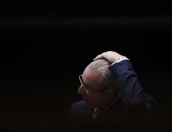 O ex-deputado Eduardo Cunha  na Câmara .Ele já escreveu parte de um livro sobre o impeachment (Foto:  Pedro Ladeira/Folhapress)