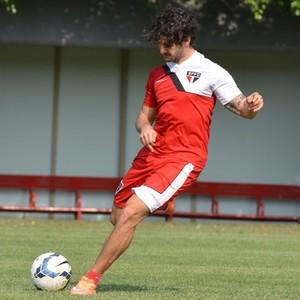 Alexandre Pato treino São Paulo (Foto: Site Oficial / saopaulofc.net)