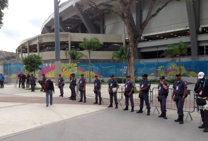 Policiamento Maracanã Bélgica x Rússia (Foto: Vicente Seda)