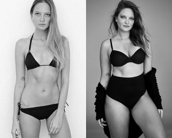Antes e depois de Bruna Erhardt (Foto: Divulgação)