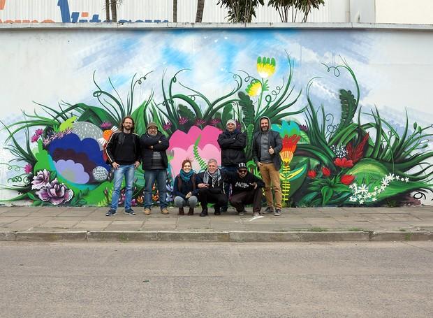 Equipe responsável pela realização do clipe de Primavera da RBS TV  (Foto: RBS TV/Divulgação)