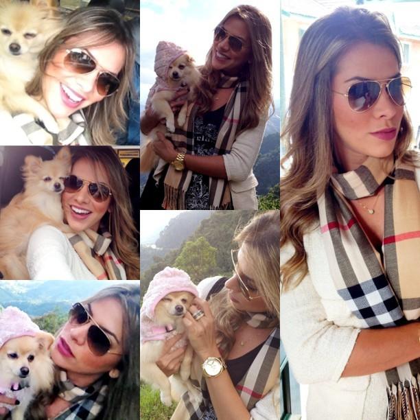 Adriana, ex-bbb, posa com cachorrinha (Foto: Instagram / Reprodução)