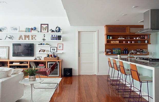 Aparador Loja Gato Preto ~ Como um livro aberto Casa e Jardim Cozinha integrada com a sala