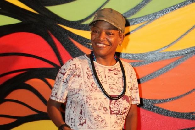 Mart'nália em evento no Rio (Foto: Anderson Borde/ Ag. News)