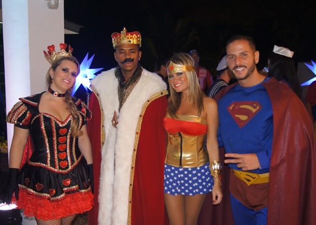 Robinho e Tathy Rio em festa (Foto: Pablo Amora Assessoria de Imprensa / Divulgação)