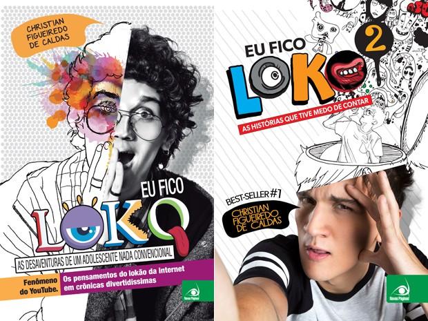Capas dos dois livros do youtuber Christian Figueiredo de Caldas (Foto: Divulgação)