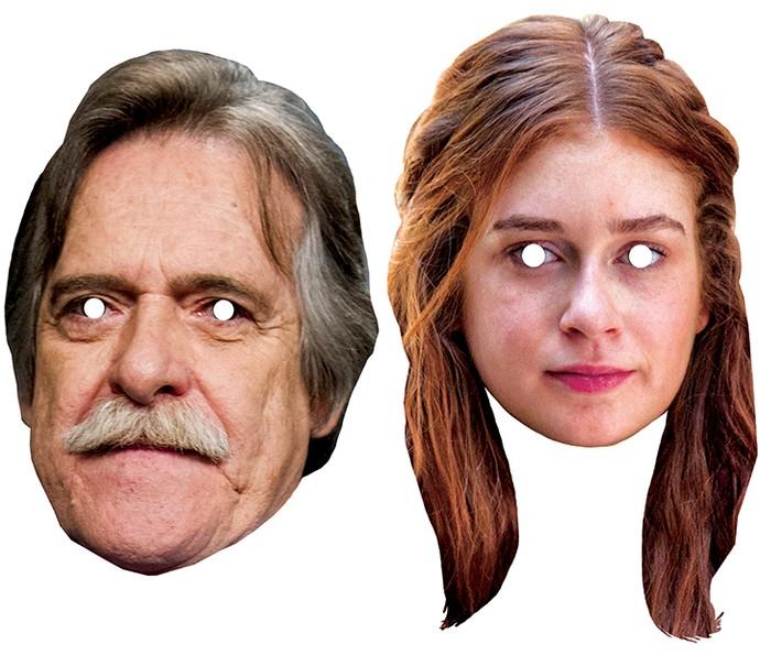 Faça download das máscaras de carnaval de persinagens de novelas, como Gibson, de 'A Regra do Jogo' e Eliza, de 'Totalmente Demais' (Foto: Daniel Chevrand / Gshow)