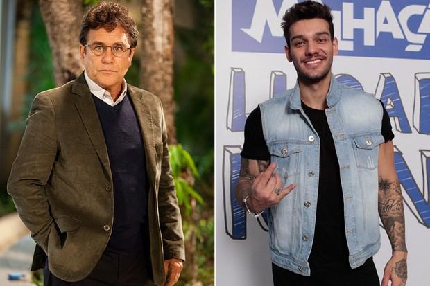 Marcos Frota e Lucas Lucco (Foto: Globo / Isac Luz/EGO)